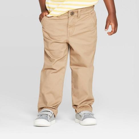 Toddler Boys' Stretch Twill Chino Pants - Cat & Jack™ Khaki - image 1 of 3