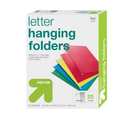 20ct Hanging File Folders Letter Size Multicolor - Up&Up™