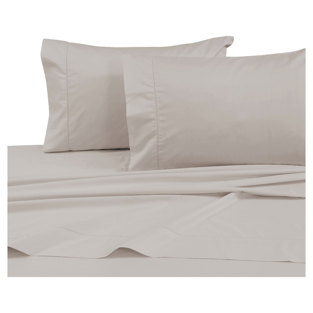 Cotton Sateen Deep Pocket Sheet Set (King) Gray 750 Thread Count - Tribeca Living