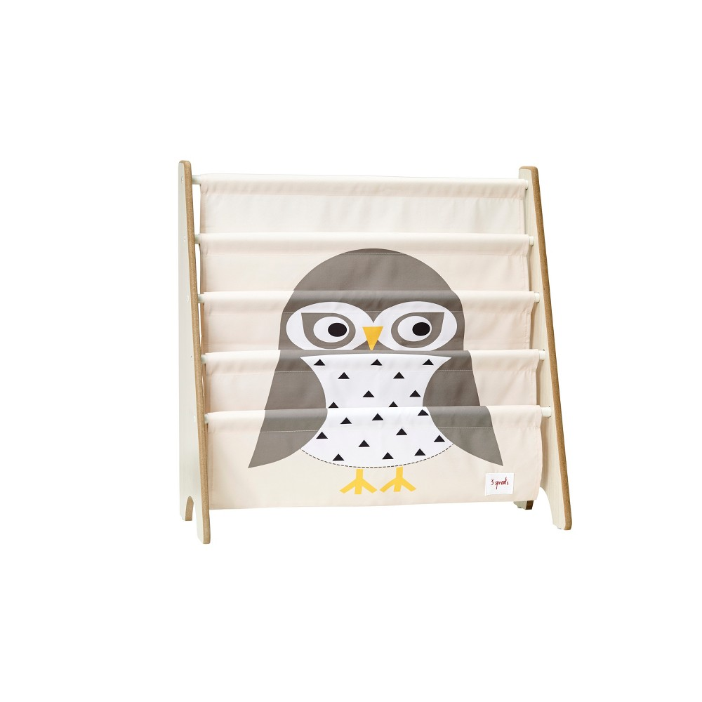 Image of 3 Sprouts Kids Bookcase Rack Owl Print