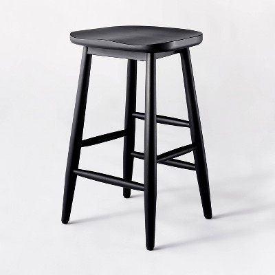 Haddonfield All Wood Backless Counter Height Barstool Black - Threshold™ designed with Studio McGee