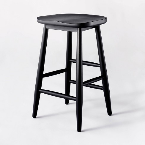 Haddonfield All Wood Backless Counter Stool - Threshold™ designed with Studio McGee - image 1 of 4