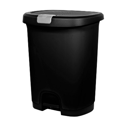 7 Gallon Step-On Trash Can With Locking Lid - Black - - Room Essentials™