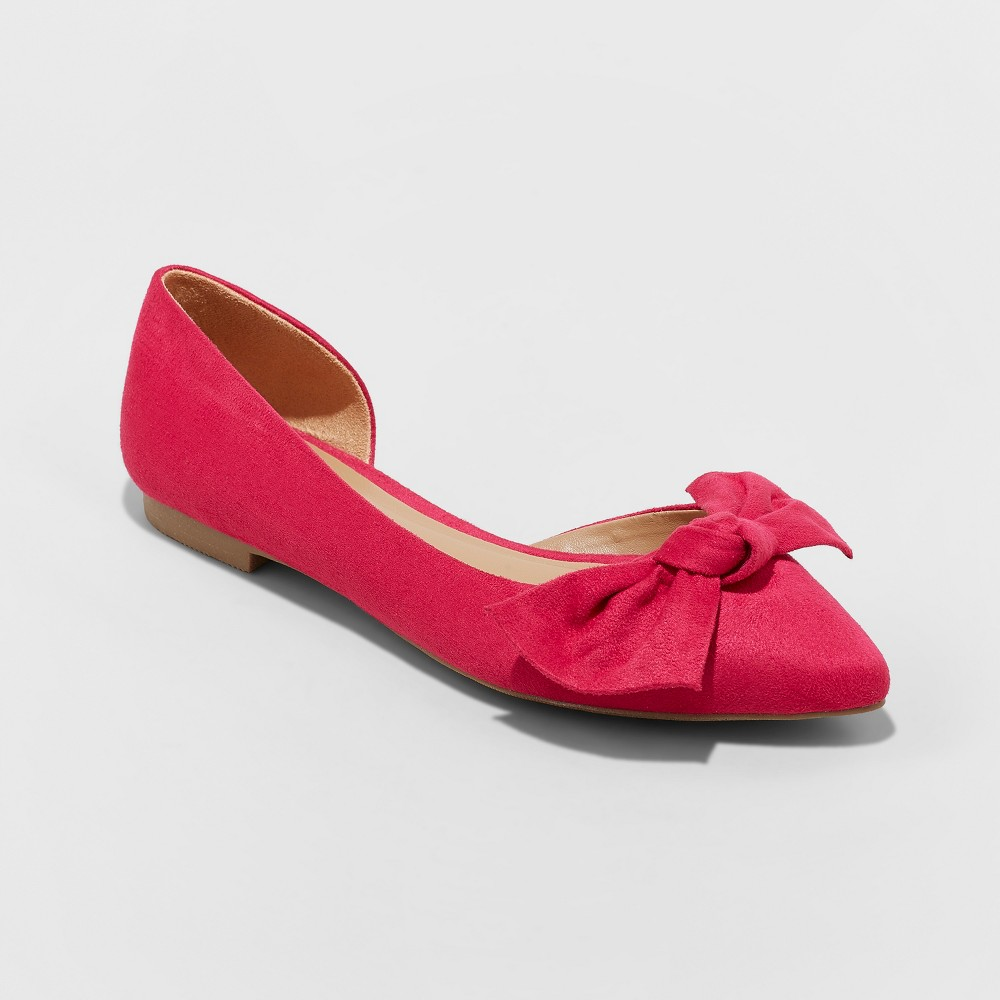 Women's Jayme Bow Ballet Flats - A New Day Pink 5