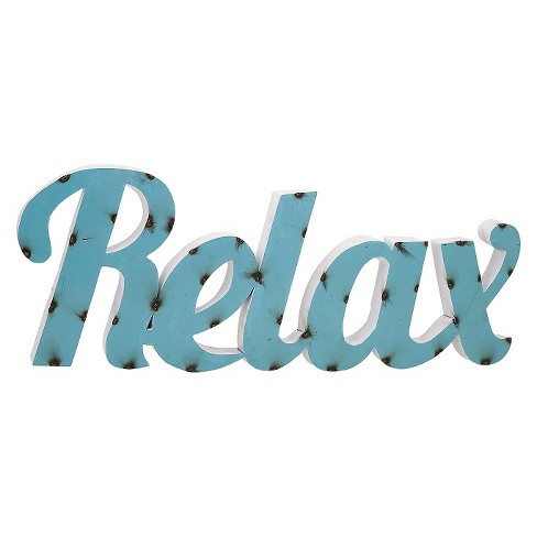 Aurora Relax Decorative Wall Sculpture - Blue - image 1 of 2
