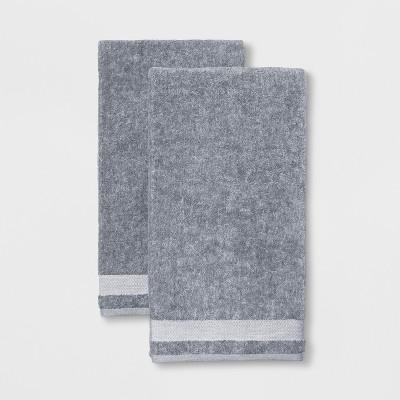 2pk Solid Bath Sheet Dark Gray - Made By Design™