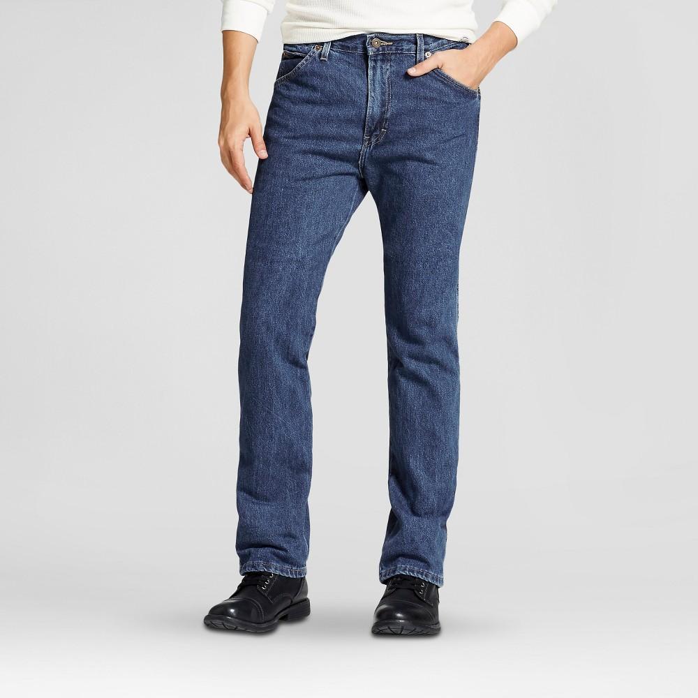 Dickies Men's Big & Tall Regular Straight Fit Denim 6-Pocket Jeans - Stone Washed 44x30