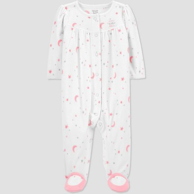 Baby Girls' Mommy's Angel Fleece Sleep N' Play - Just One You® made by carter's White 3M
