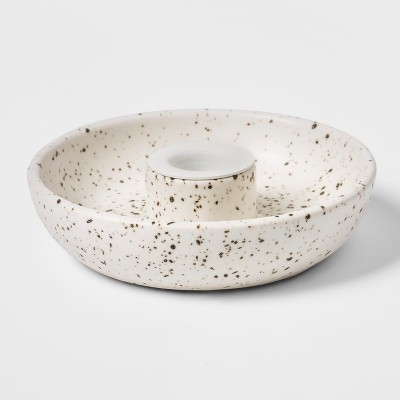 Candle Holder Dish - Speckled White - Threshold™