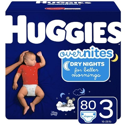 Huggies OverNites Diapers - Size 3 (80ct)