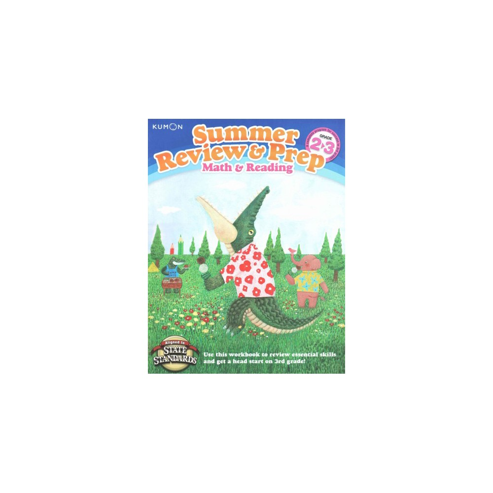 Kumon Summer Review & Prep Math & Reading Grade 2-3 (Workbook) (Paperback)