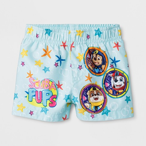 Baby Boys' PAW Patrol Swim Trunks - Aqua - image 1 of 1