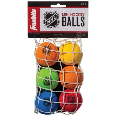 Franklin Sports NHL Mini Hockey Replacement Balls - 6pk