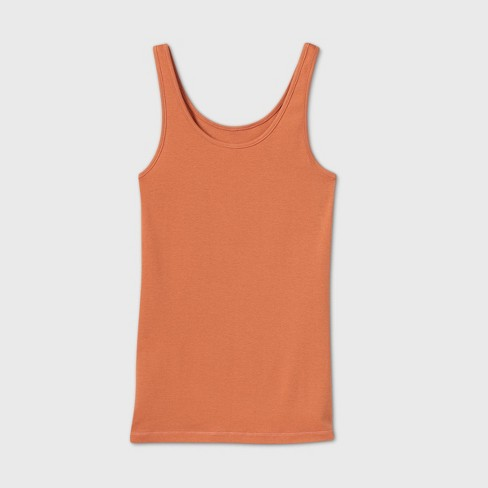 Women's Slim Fit Any Day Rib Tank Top - A New Day™ - image 1 of 2