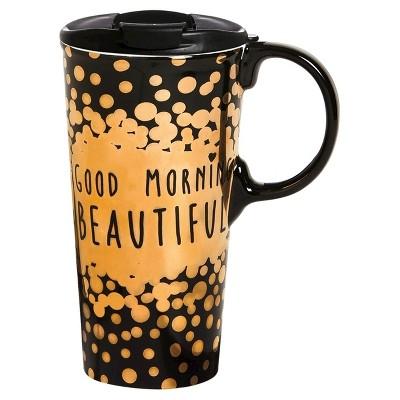 Ceramic Cup  Good Morning Beautiful  - 17oz.