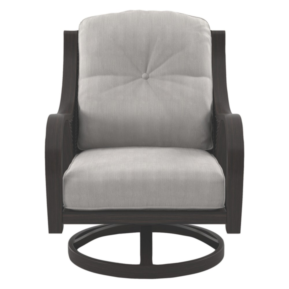 Marsh Creek Swivel Lounge with Cushions - Brown - Outdoor by Ashley