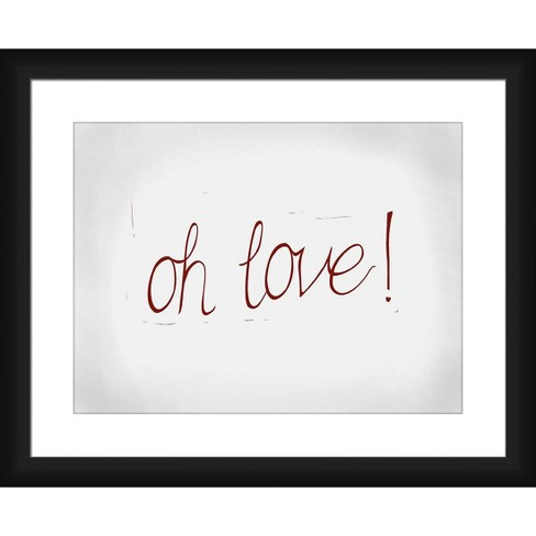 'Oh Love!' Framed and Matted Print - PTM Images - image 1 of 2