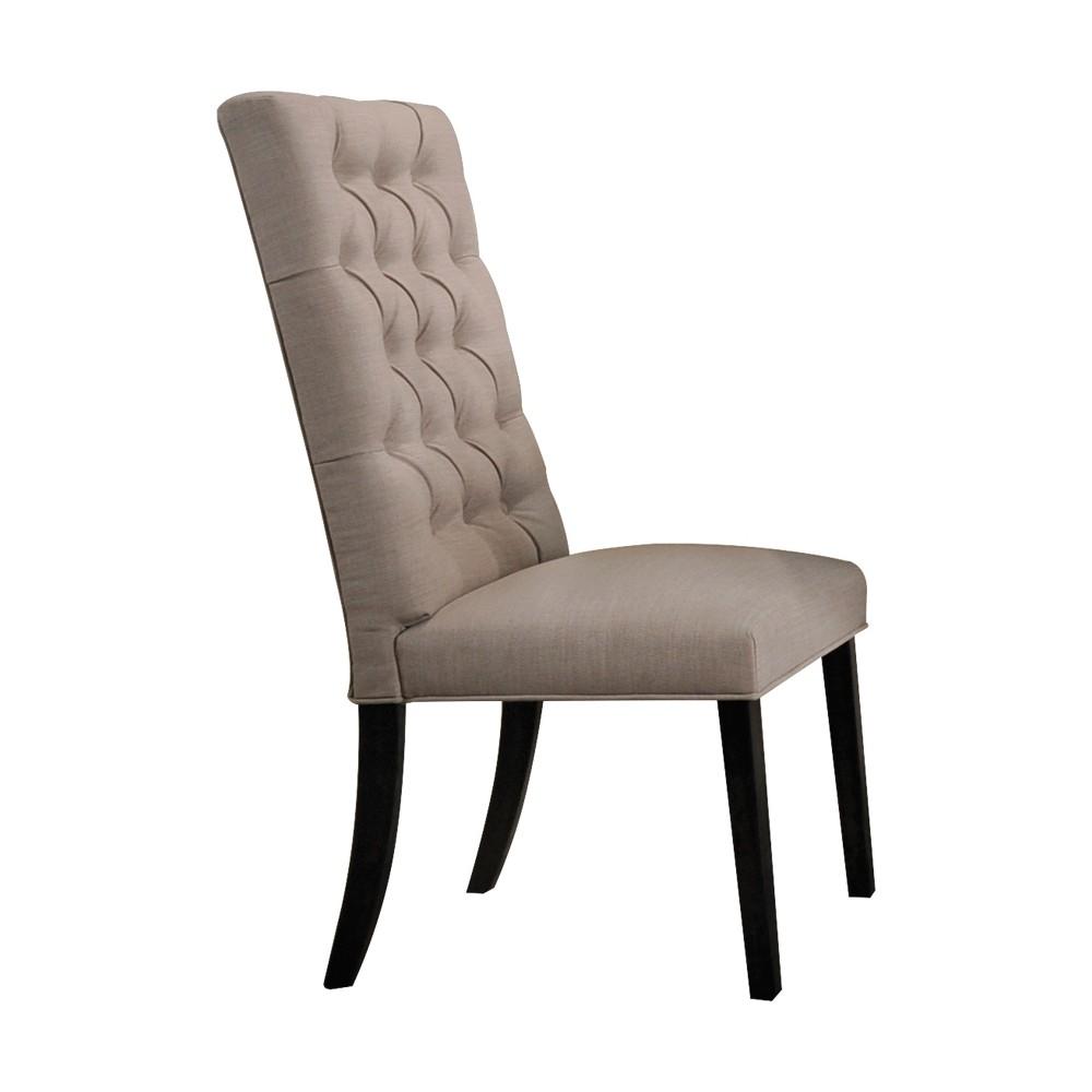 Acme Furniture Set of 2 Morland Side Chair Tan/Black, Beige Black