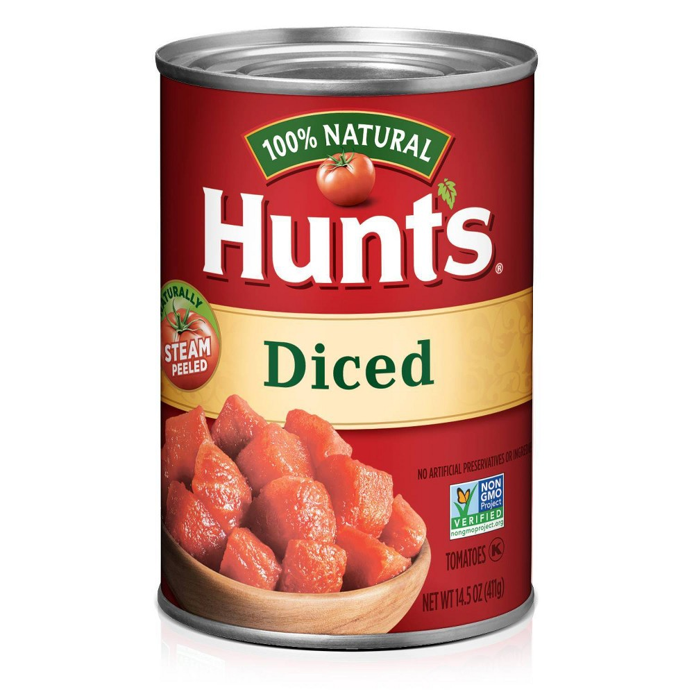 Hunt 39 S 100 Natural Diced Tomatoes 14 5oz