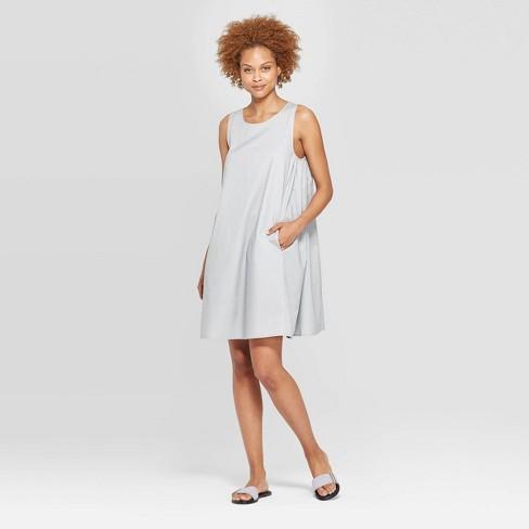 Women's Sleeveless Crewneck Tank Dress - Prologue™ Gray XS - image 1 of 3