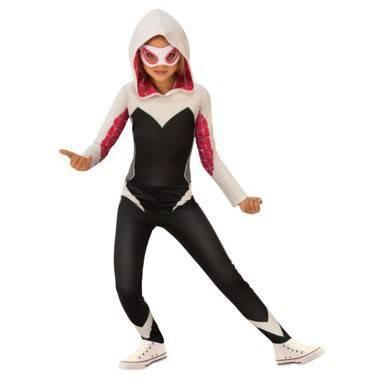 Kids' Marvel Spider-Gwen Halloween Costume Jumpsuit with Mask