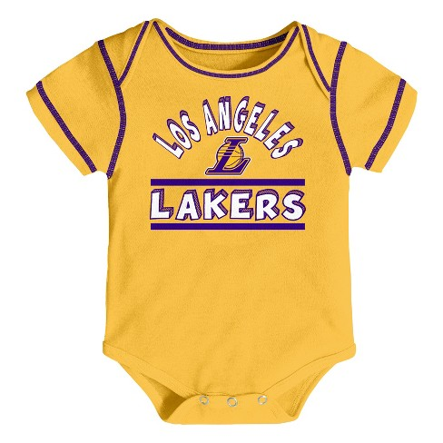 NBA Los Angeles Lakers Boys  Rookie 3pk Body Suit Set. Shop all NBA c6e7b3ab5