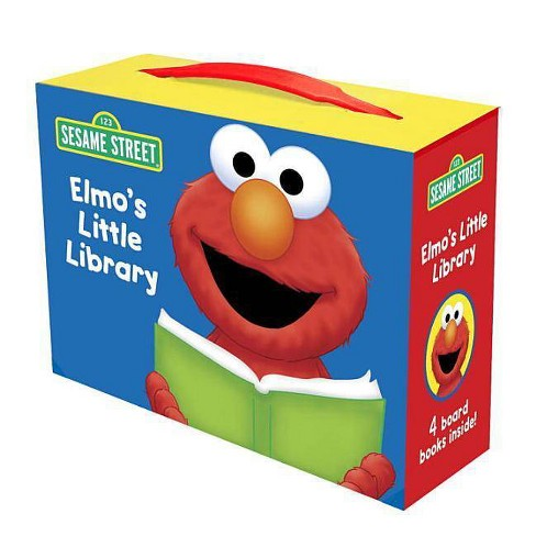 Elmo's Little Library ( Sesame Street) by Sarah Albee (Board Book) - image 1 of 1
