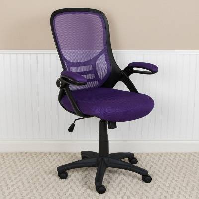 Emma and Oliver High Back Mesh Ergonomic Office Chair with Flip-up Arms