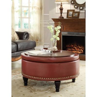 Augusta Storage Ottoman Bonded Leather - INSPIRED by Bassett