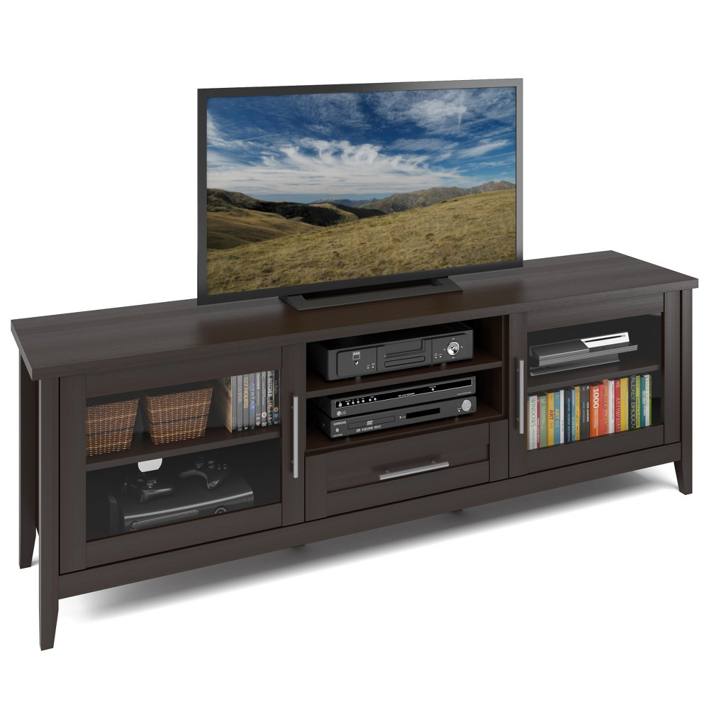 Flat Panel Tv Stand CorLiving Espresso Brown