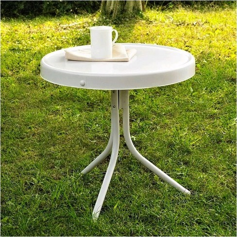 Steel Retro Metal Table in White-Pemberly Row - image 1 of 2