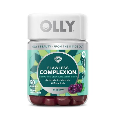 OLLY Flawless Complexion Chewable Gummies - Berry Fresh - 50ct