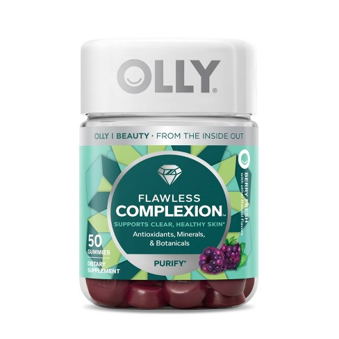 OLLY Flawless Complexion Chewable Gummies - Berry Fresh - 50ct - image 1 of 4
