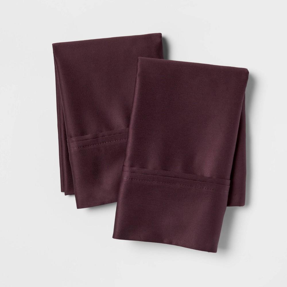Standard 400 Thread Count Solid Performance Pillowcase Set Dark Purple Threshold 8482