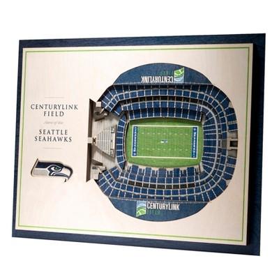 NFL Seattle Seahawks 5-Layer StadiumViews 3D Wall Art