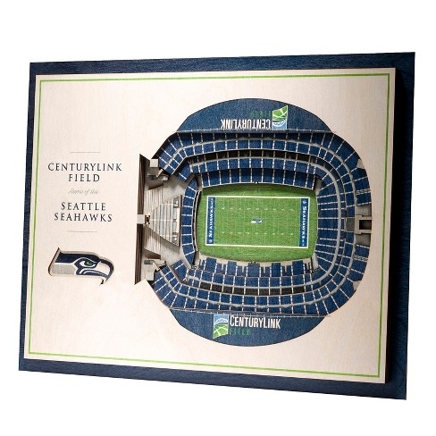 NFL Seattle Seahawks 5-Layer StadiumViews 3D Wall Art - image 1 of 5