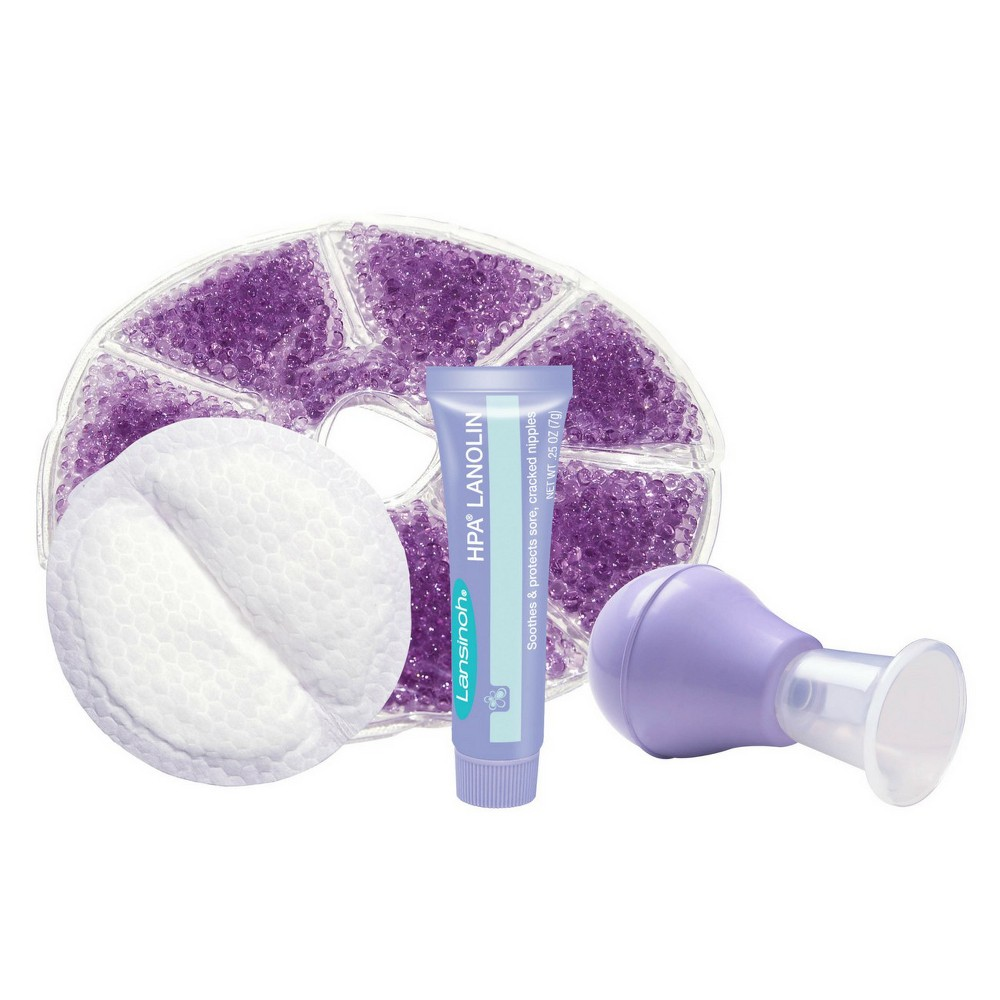 Image of Lansinoh Breastfeeding Starter Set, Purple