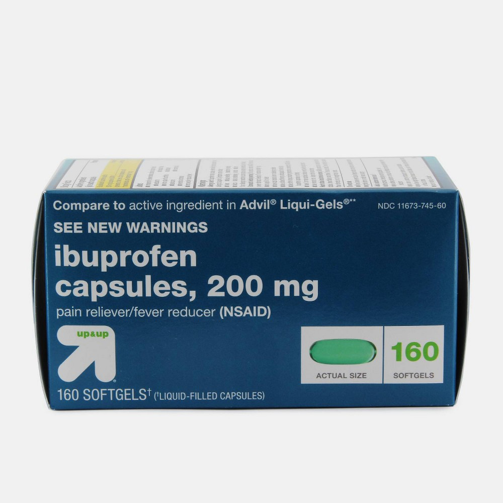 Ibuprofen Nsaid Pain Reliever 38 Fever Reducer Softgels 160ct Up 38 Up 8482