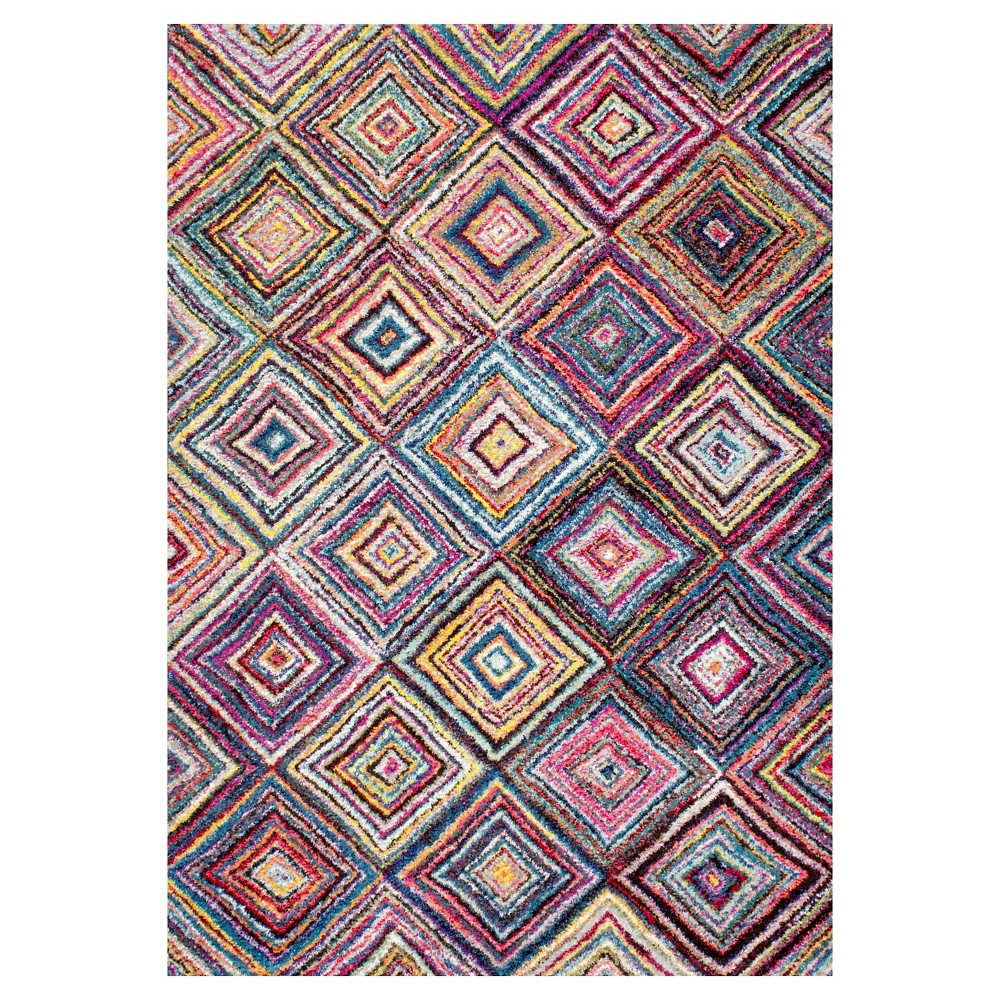 Solid Loomed Area Rug - (5'x8') - nuLOOM, Multicolored