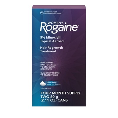 Women's Rogaine 5% Minoxidil Foam for Hair Regrowth - 4 Month Supply