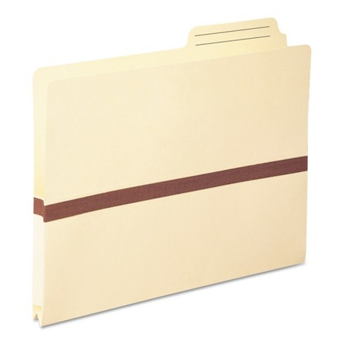 Smead One Inch Accordion Expansion File Folders Pocket, 2/5 Tab, Letter, Manila - image 1 of 3