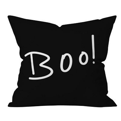 Lisa Argyropoulos Giving Thanks Oversize Square Throw Pillow Black - Deny Designs