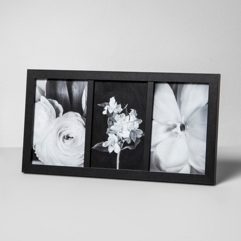 Thin Frame Holds 3 Photos Black 4x6 Made By Design Target