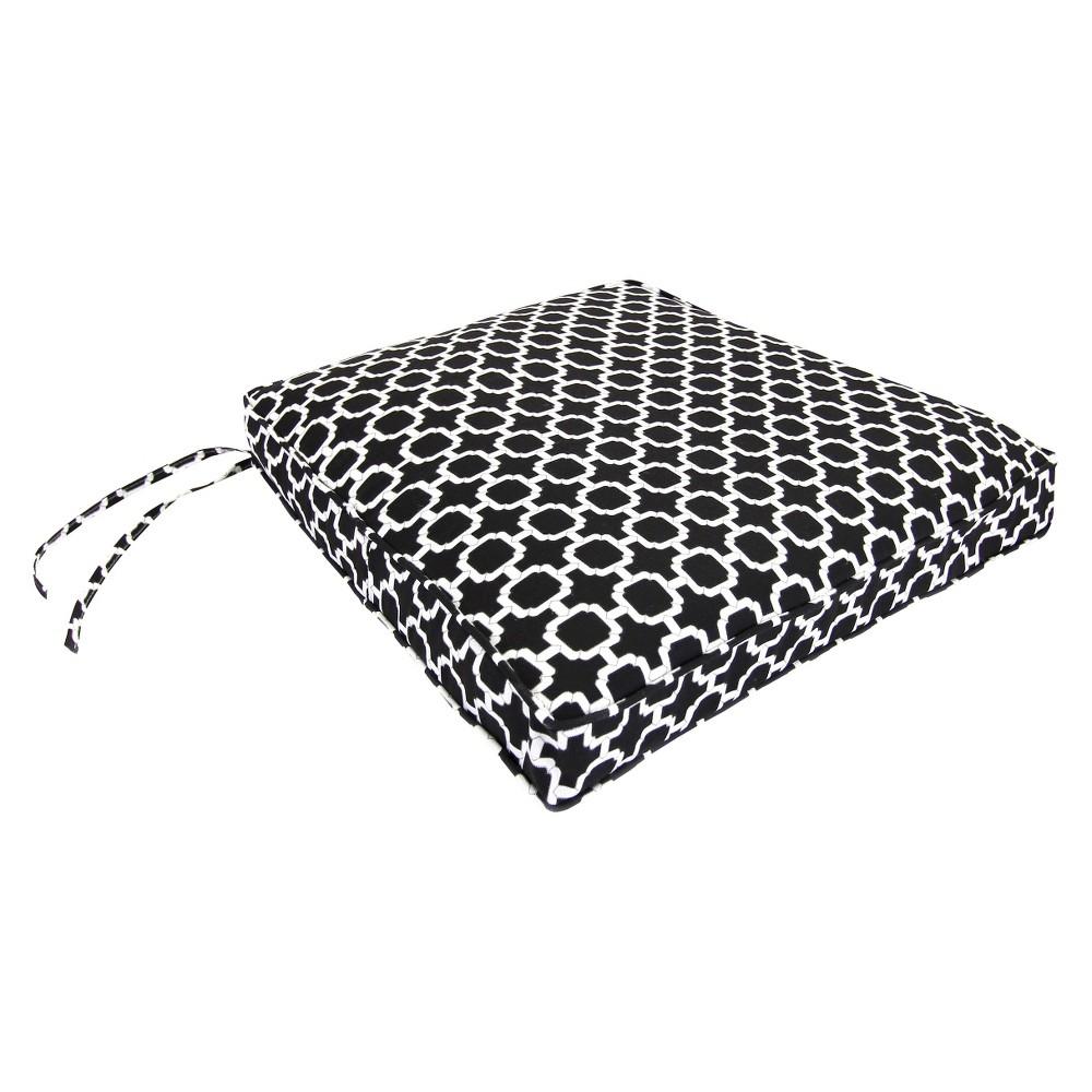 Outdoor Seat Cushion Black White Geometric 19 X17