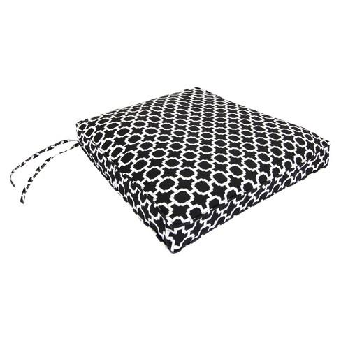 Outdoor Seat Cushion Black White Geometric 19 X17 Target