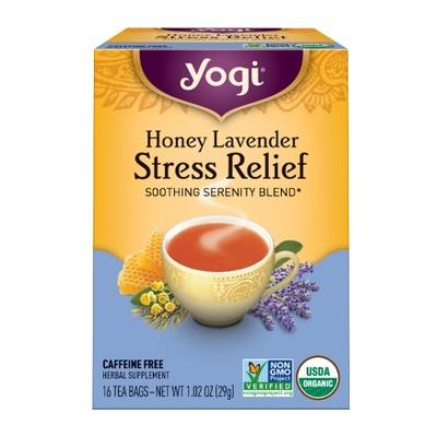 Yogi Tea - Honey Lavender Stress Relief Tea - 16ct
