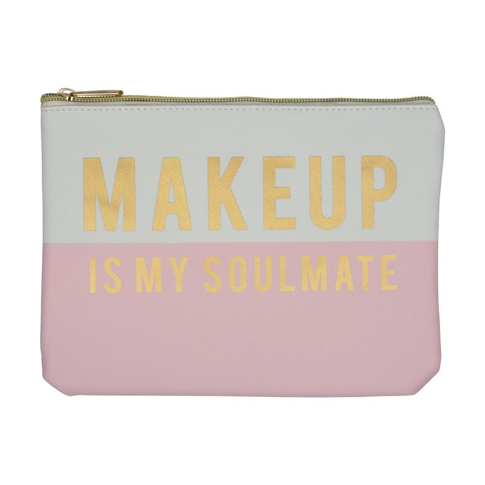 Image of Ruby+Cash Faux Leather Makeup Bag & Organizer - Makeup Soulmate Color Block