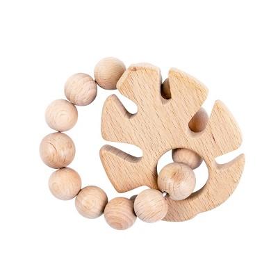 Bebe au Lait Wooden Teethers - Tropical Leaf