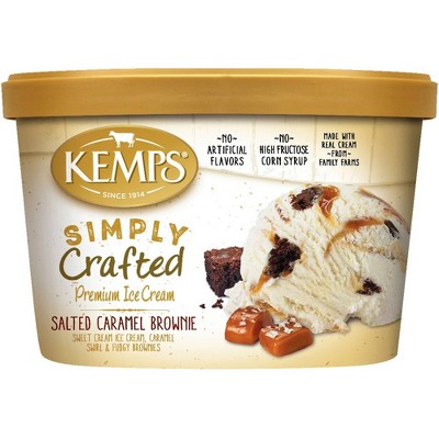 Kemps Simply Crafted Salted Caramel Brownie Ice Cream - 48oz