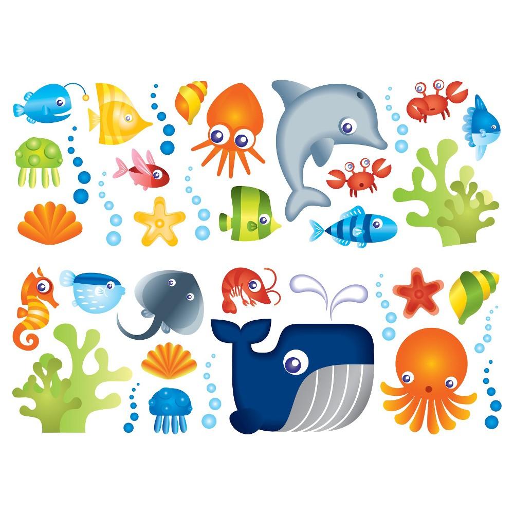 Image of Fun4Walls Under the Sea Stikarounds - Blue/Orange